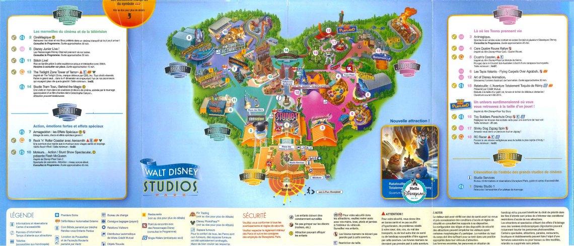 Plan Disneyland Paris à imprimer