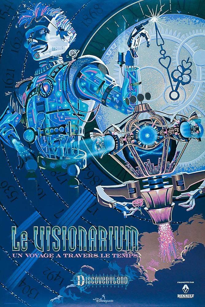 Disneyland Paris Attractions Poster