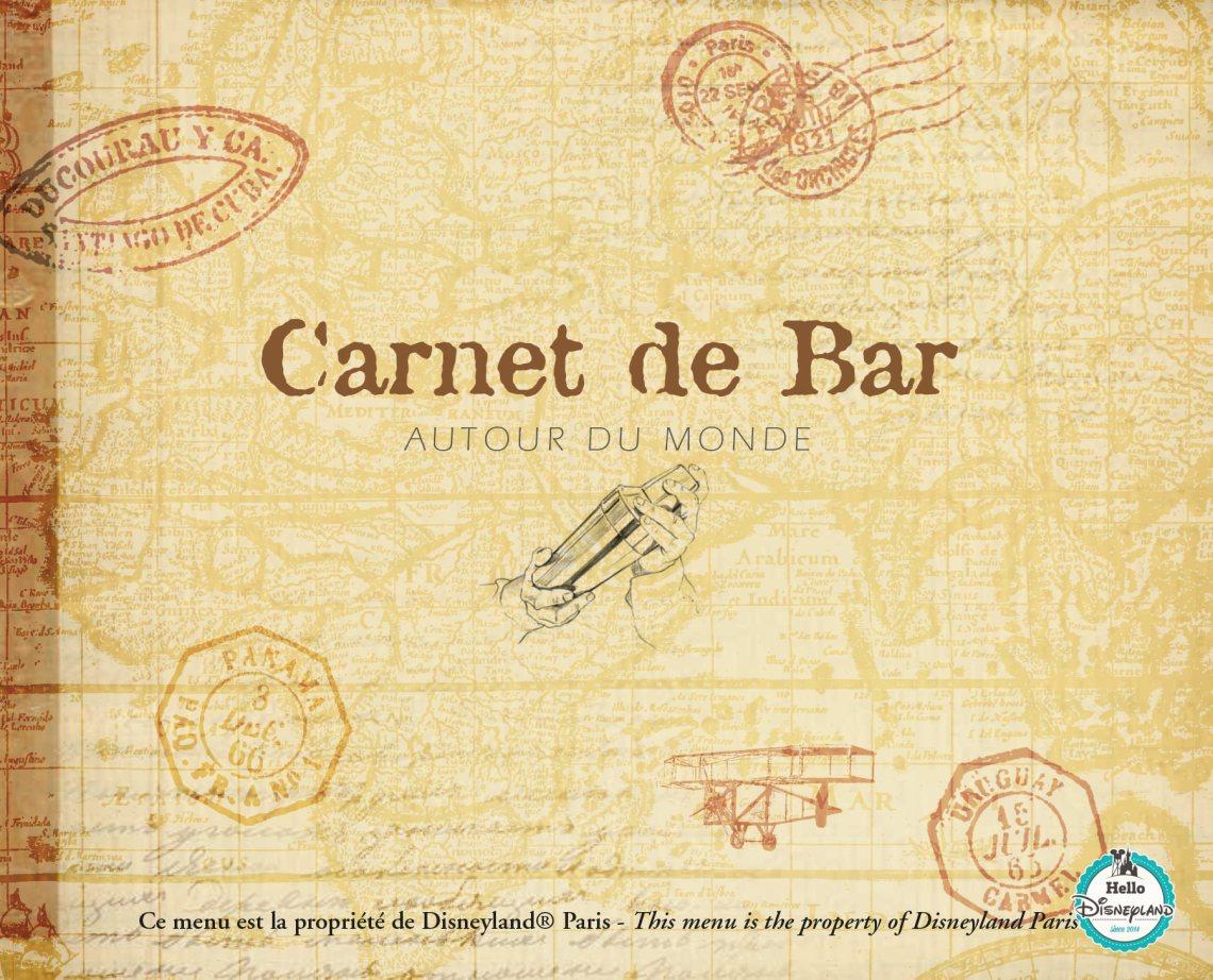 Carte des Bars - Cocktails et Boissons - Disneyland Paris