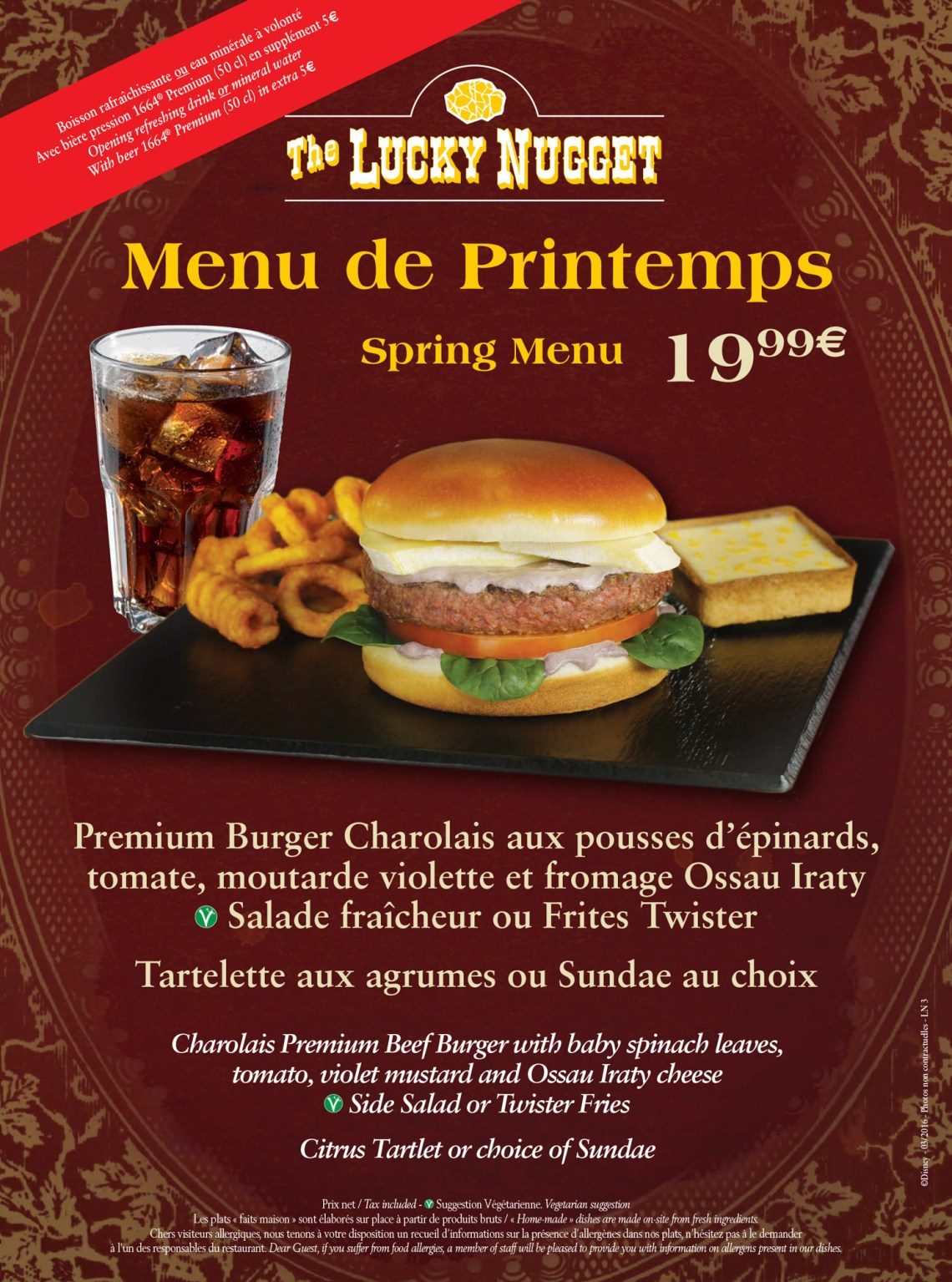 Lucky Nuggets - Menus Printemps 2016- Disneyland Paris-8