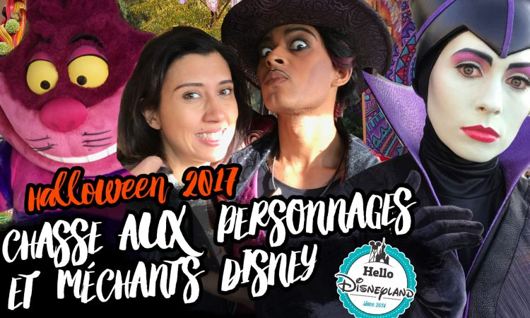 Personnages et mechants Disney vlog halloween 2017