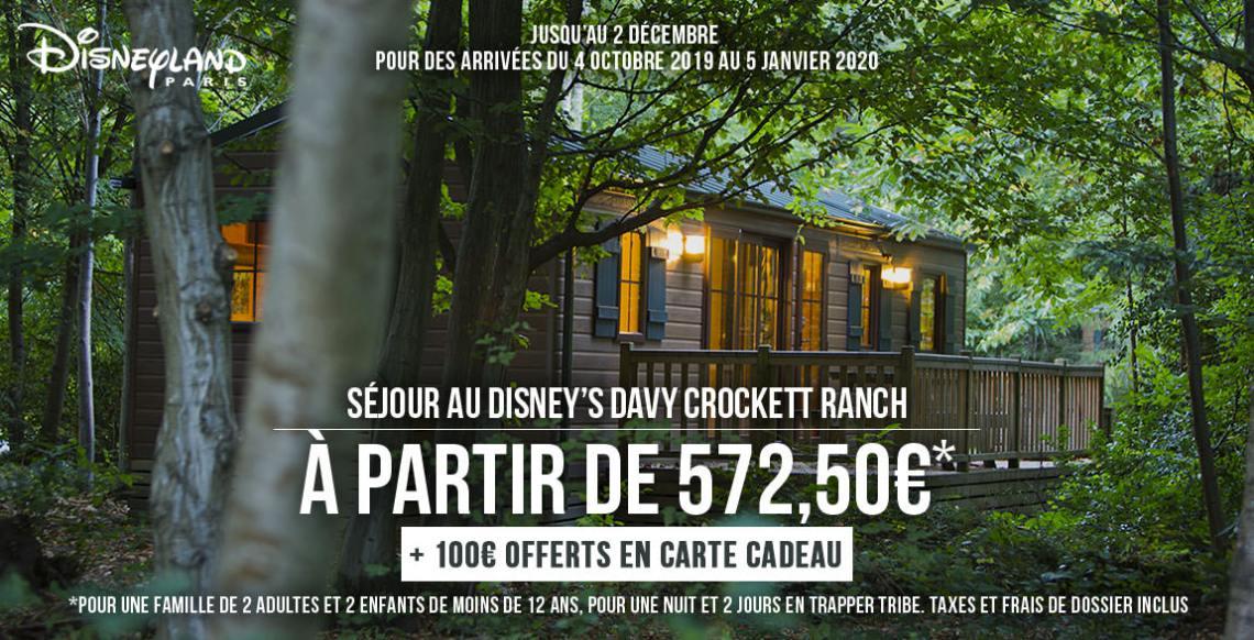 promos disneyland paris séjour ranch davy crockett
