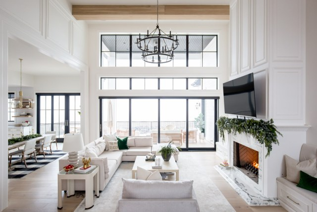 holiday decor in living room