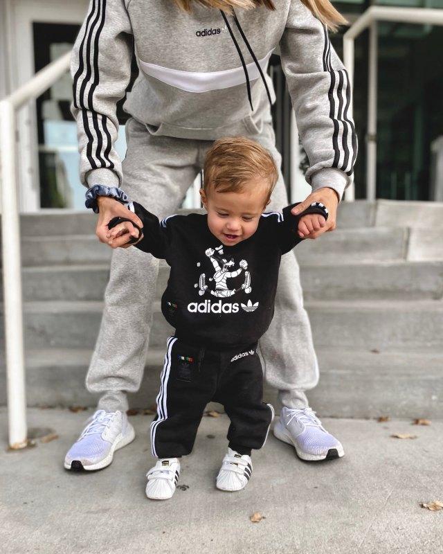 toddler in adidas