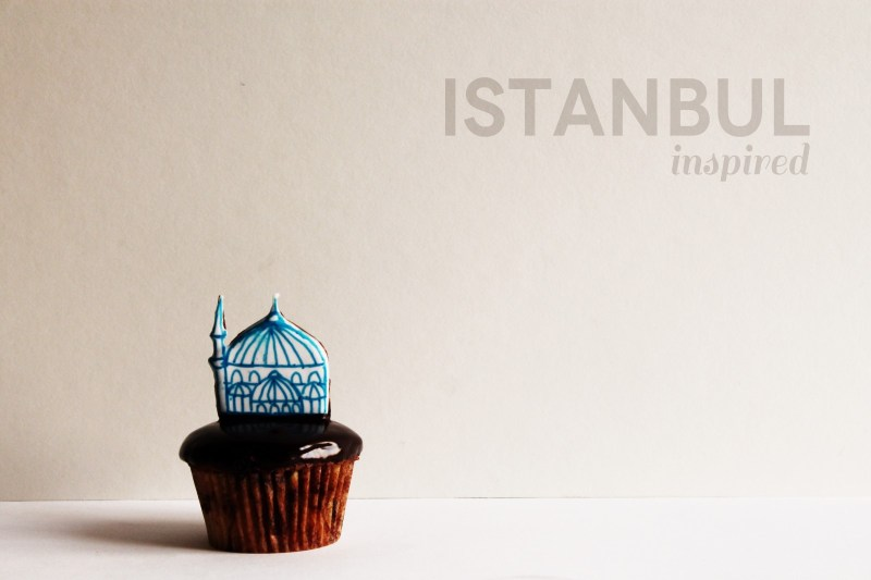 istanbul inspired cupcake toppers