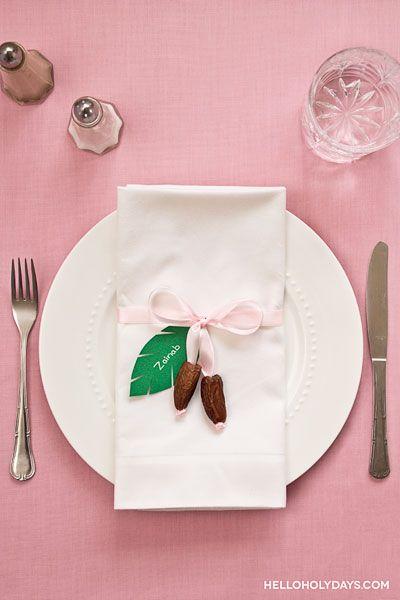 Ramadan Ideas: Date Place Setting - Hello Holy Days!