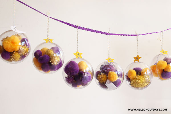 DIY Ramadan calendar with ornaments by Hello Holy Days!