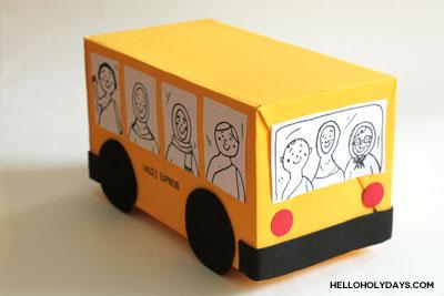 Hajj bus craft by Hello Holy Days!