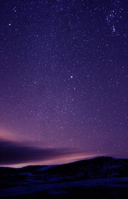 A purple night sky supports Hello Holy Days theory of using purple as a Ramadan color
