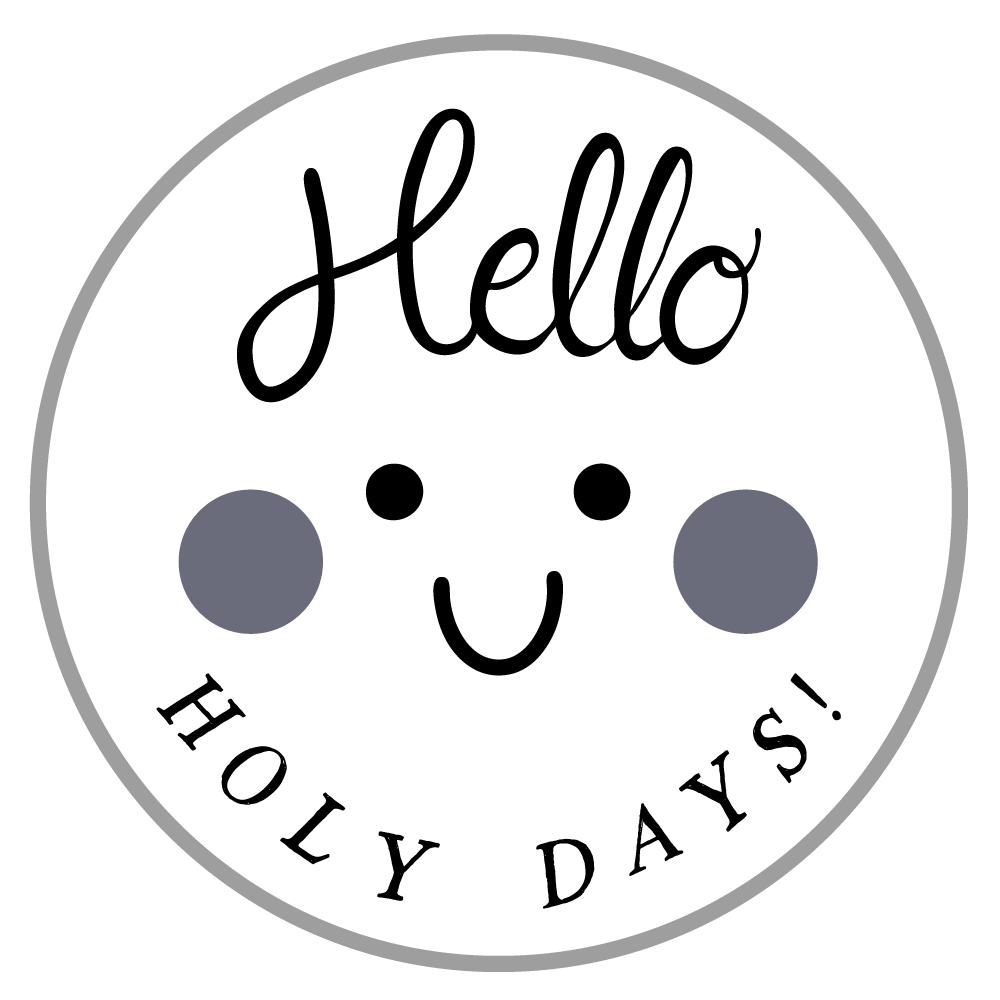 Hello Holy Days! Logo in 2020