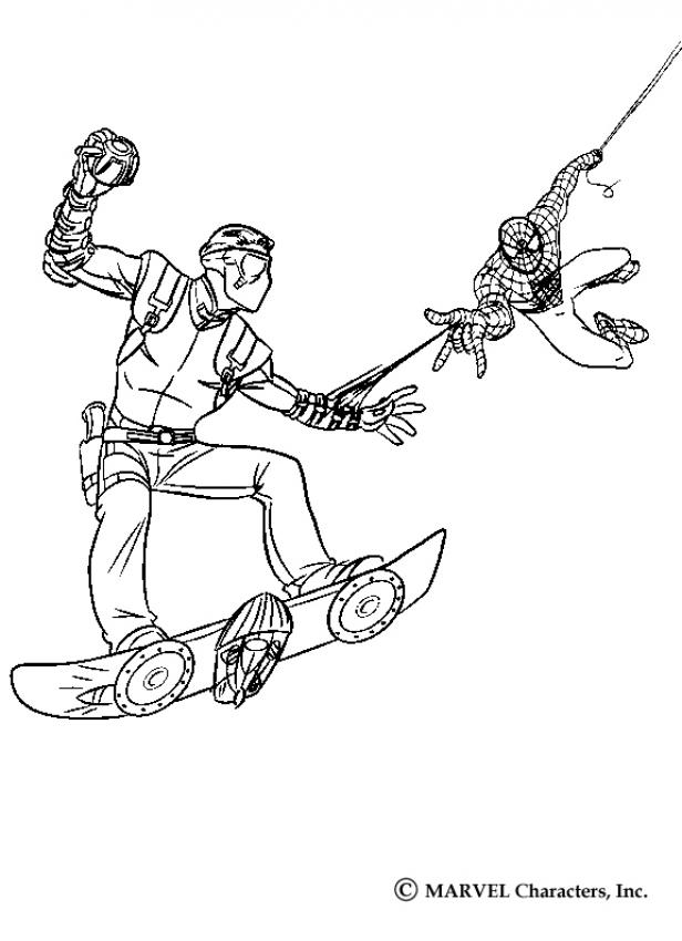 spider man coloring pages spiderman 39 s big jump