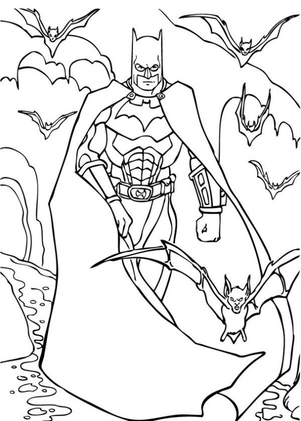 coloring pages of batman # 20
