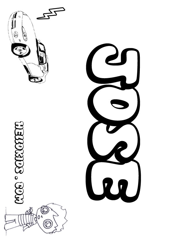 Coloring Pages Graffiti Names Josh