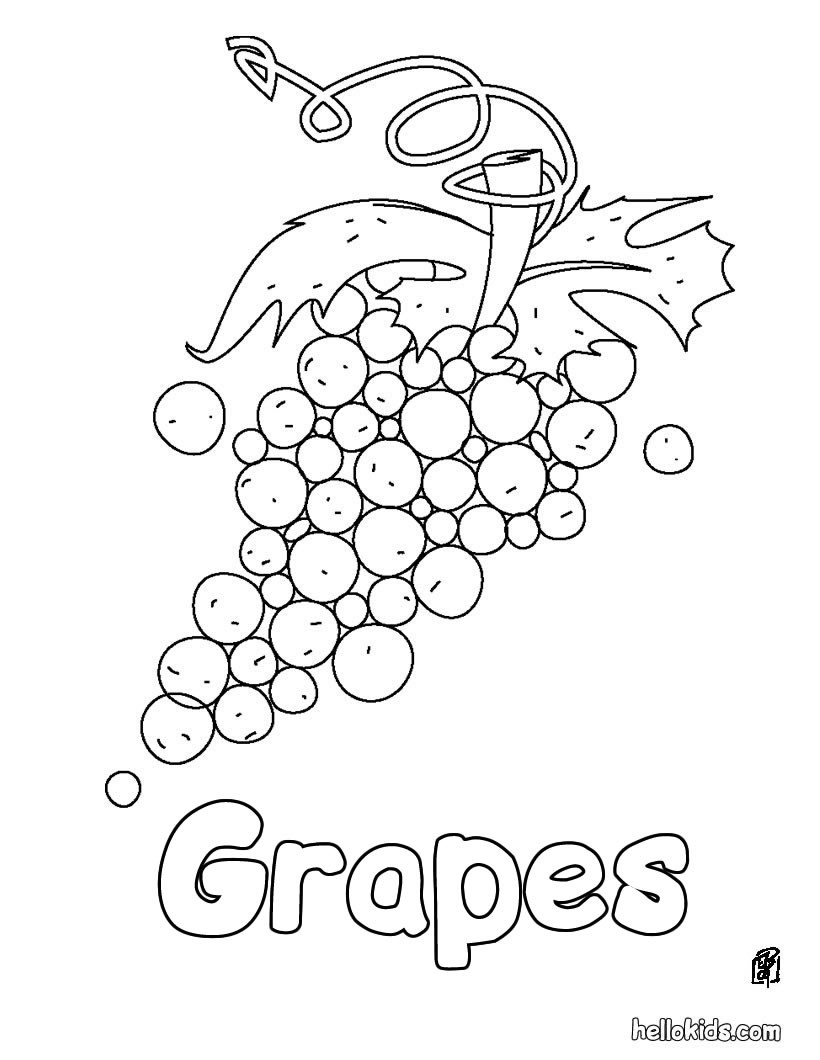 bunch of grapes coloring page bunch of grapes free coloring pages