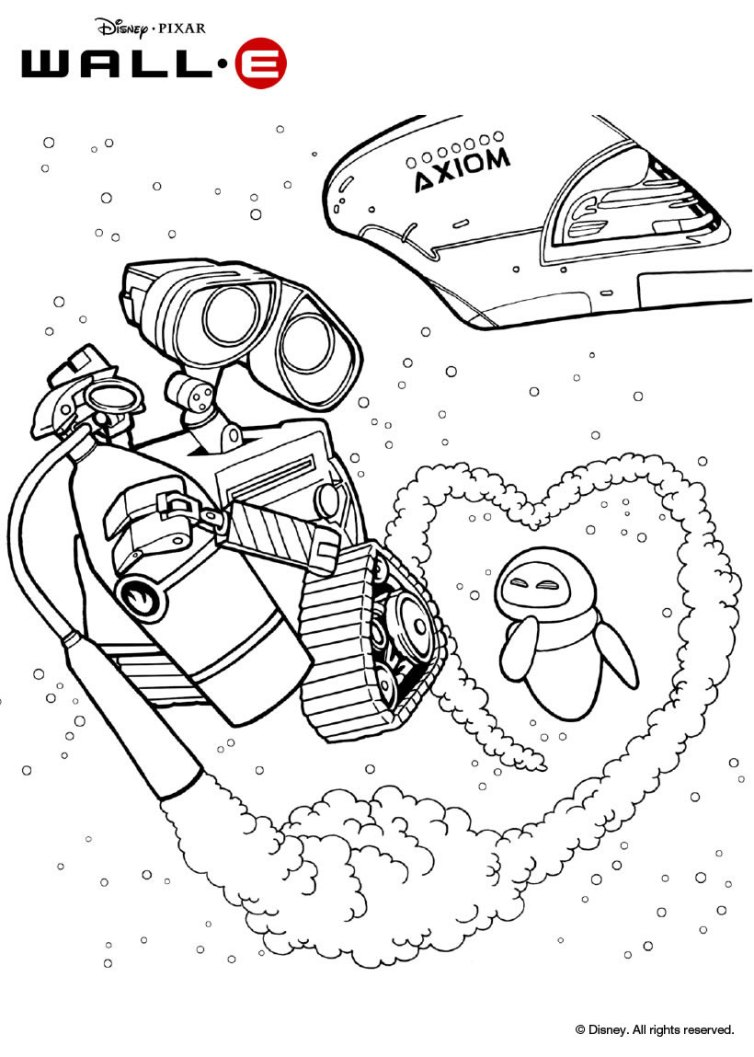 walle free coloring pages - photo#23
