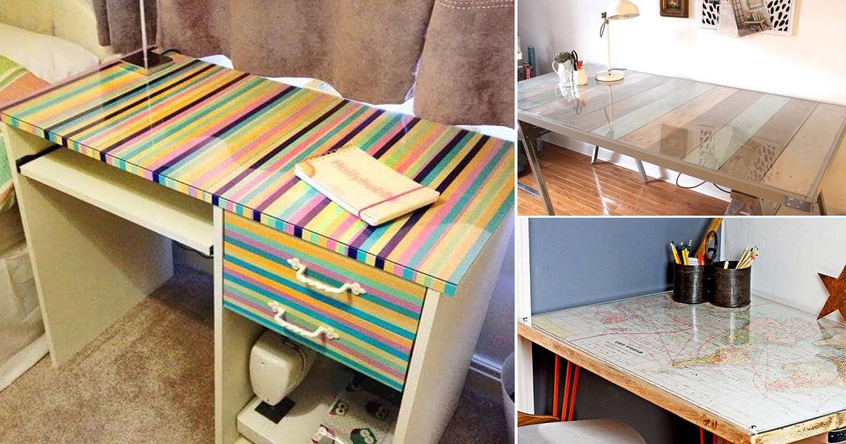 11 diy desk cover ideas for a thrifty