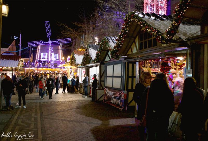 Christmas stalls at the Nottingham Christmas Market