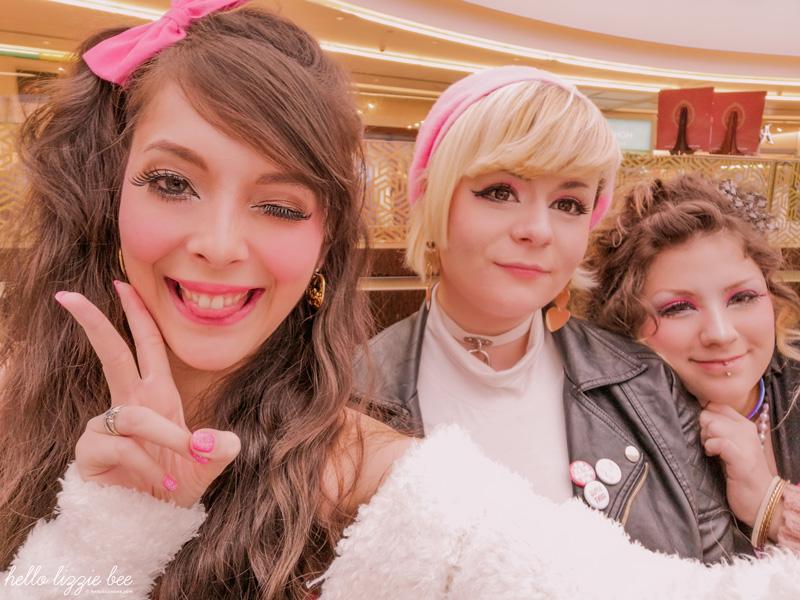 Lizzie Bee, Abi and Rachel at UK gyaru meet in Birmingham