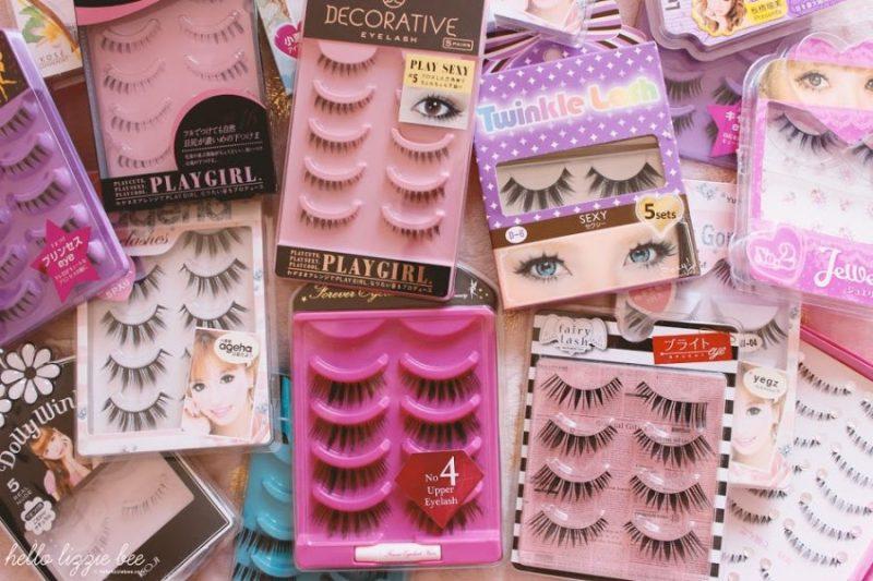 Gyaru false lashes, false lashes collection, japanese lashes, gyaru lashes