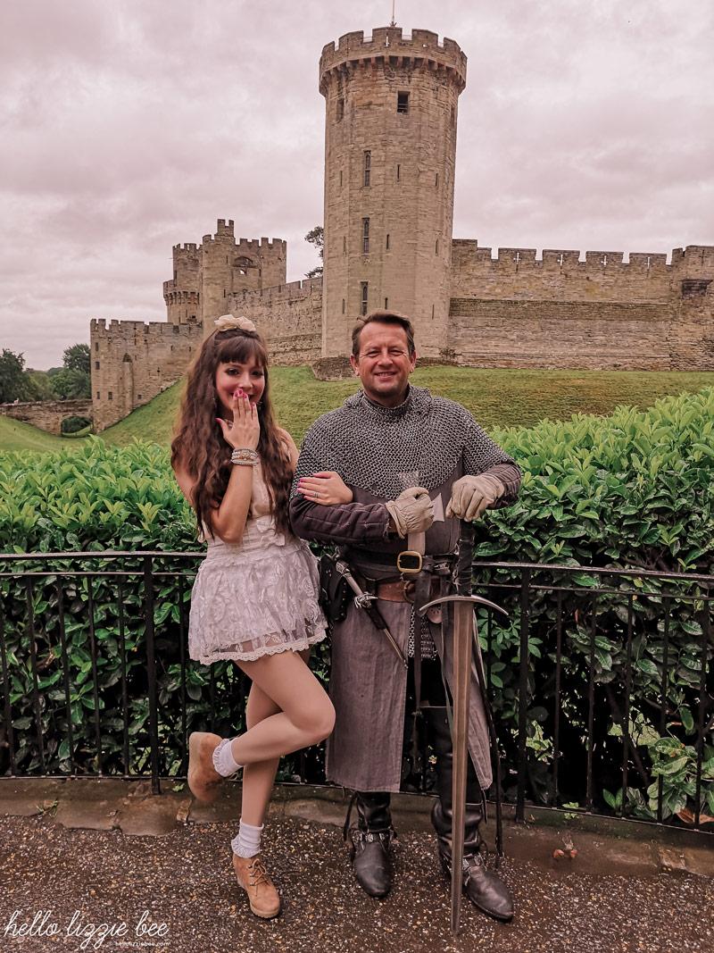 Rainy day at Warwick Castle