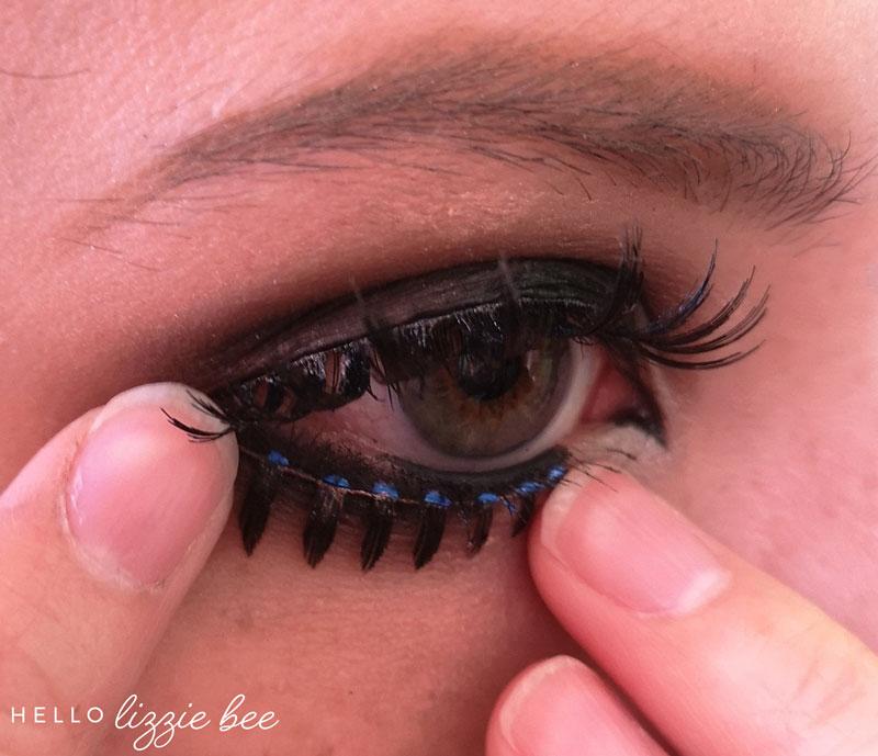 putting on lower false lashes