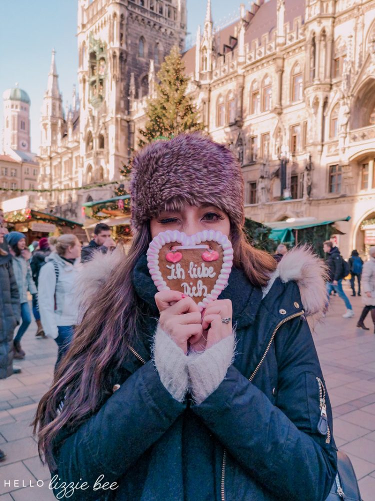 Christmas market at the Marienplatz in Germany