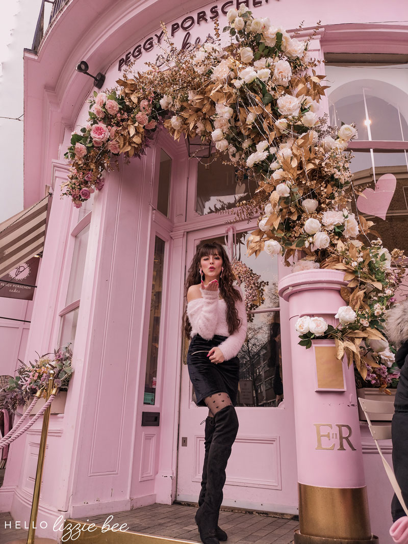 Cute cafe date at Peggy Porschen in London