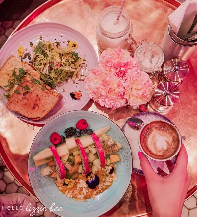 Delicious food at the Elan Cafe in Knightsbridge, London