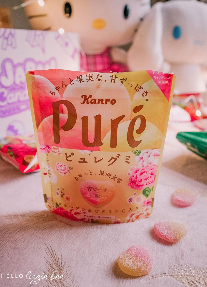 Kanro Pure Flowery Double Peach Gummies