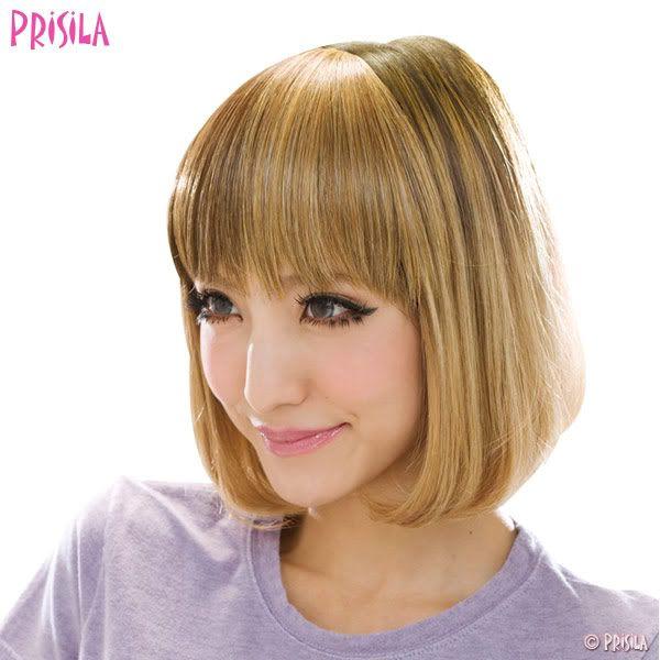 Short hair gyaru wig from Prisila
