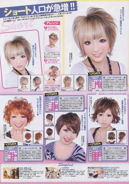 Styling bob hair in gyaru