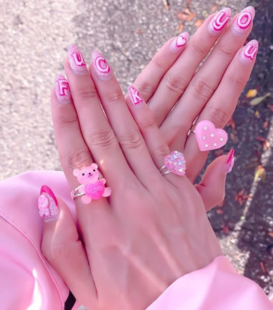 Barbie nail art inspiration