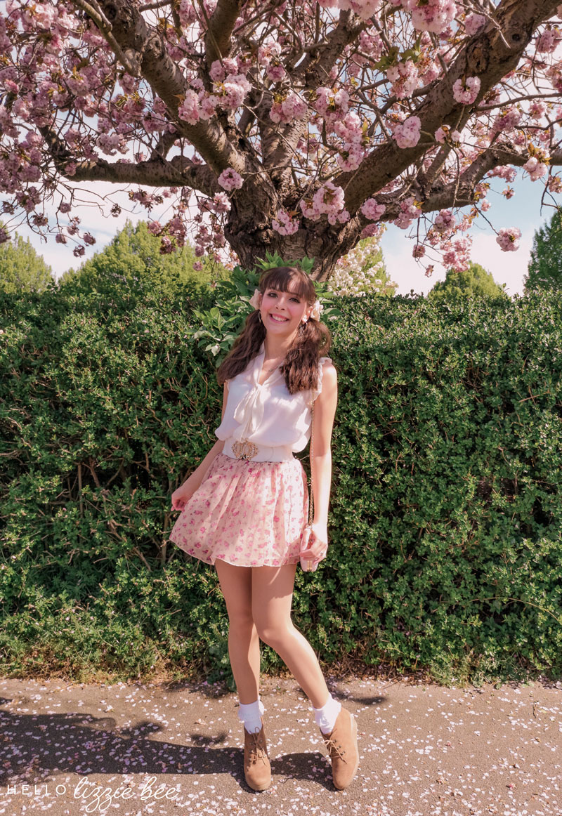 Beneath the cherry blossom tree