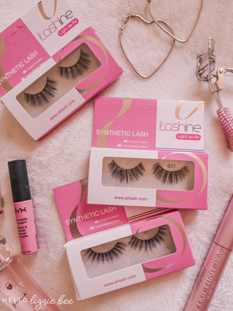 Lashine Synthetic False Lashes Review by Lizzie Bee