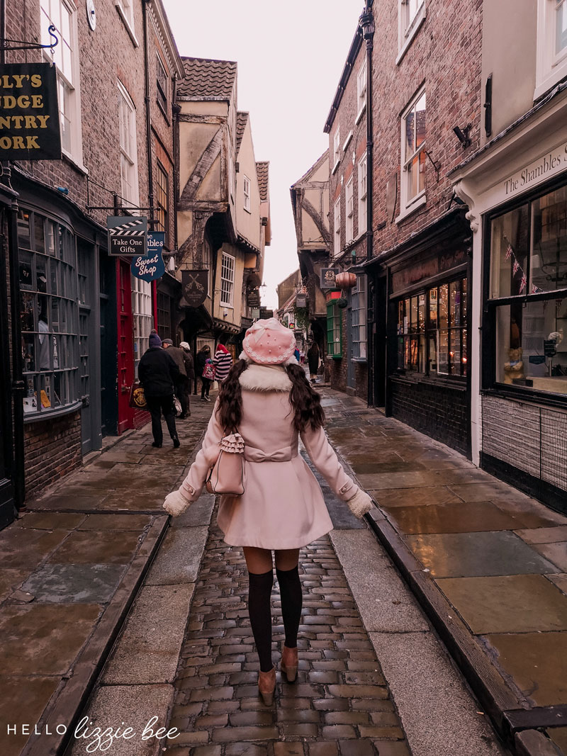 Walking Down the Shambles in York, England