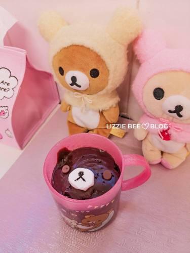 Hello Lizzie Cafe - How to make a super cute and easy Rilakkuma mug cake