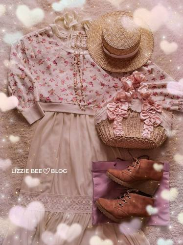 Himekaji outfit idea with white maxi dress and Liz Lisa floral sweater