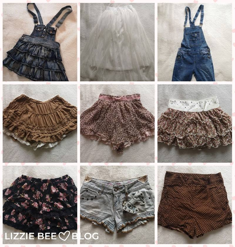 Himekaji wardrobe for spring - bottoms