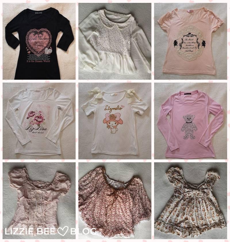 Himekaji wardrobe for spring - tops