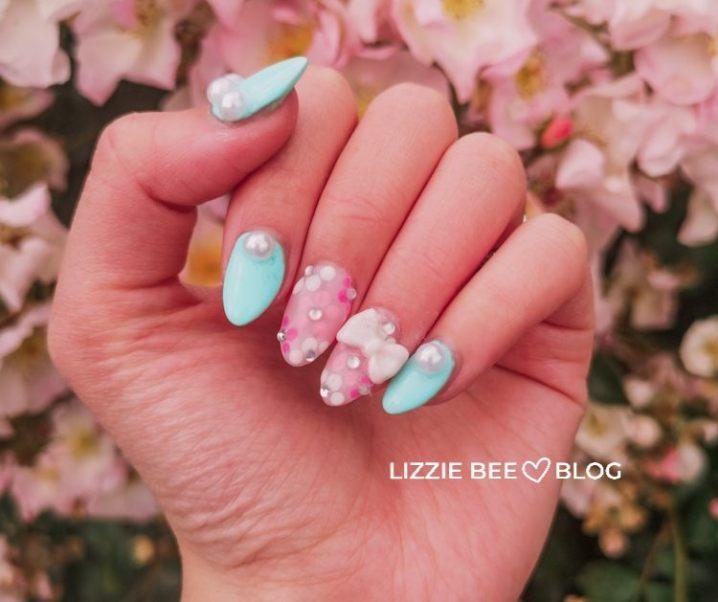 New nail + co*de (*˘︶˘*).。.:*♡