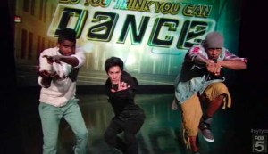Brandon, Cole, Cyrus dance a contemporary hip hop routine choreographed by Christopher Scott.