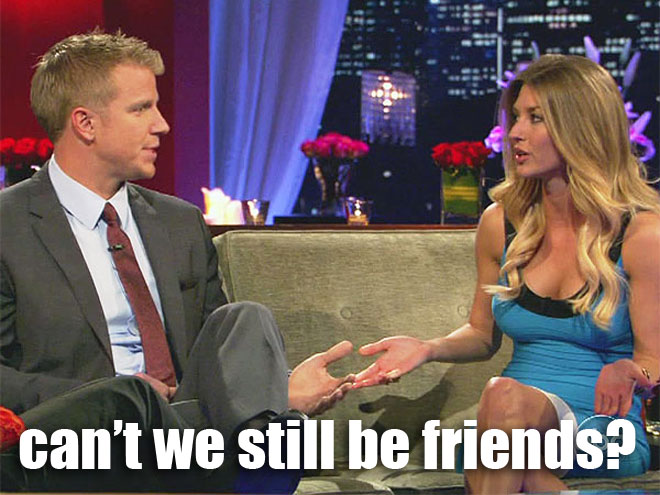 Sean Lowe and AshLee argue on the Women Tell All on the Bachelor.