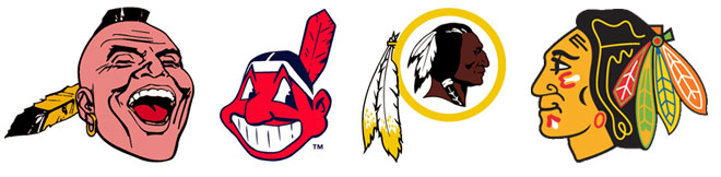 Racism in sports is apparent in the logos for Native Americans.