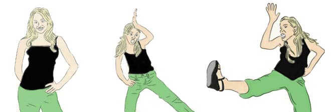 How to do the Lindsay Bluth chicken dance on Arrested Development
