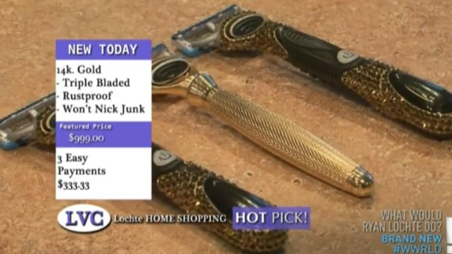 Ryan Lochte owns a custom set of gold shavers on WWRLD.