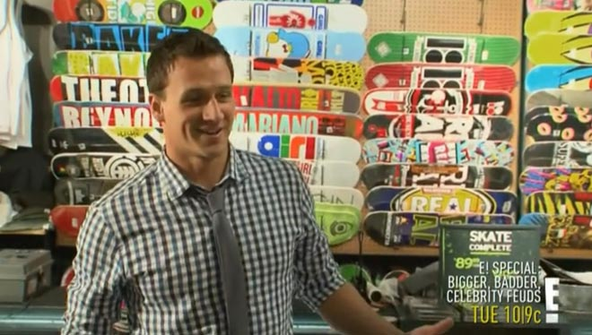 Ryan Lochte takes his brother Devon shopping at Zumiez.