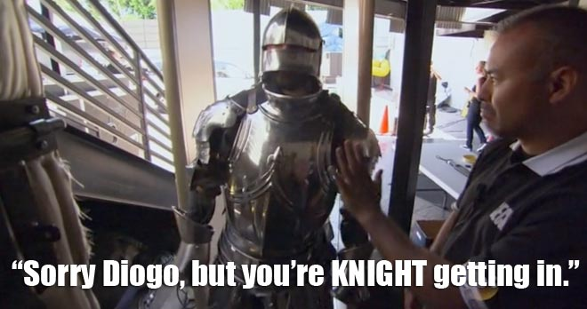 diogo the knight tries to get into the Bachelorette Men tell all.