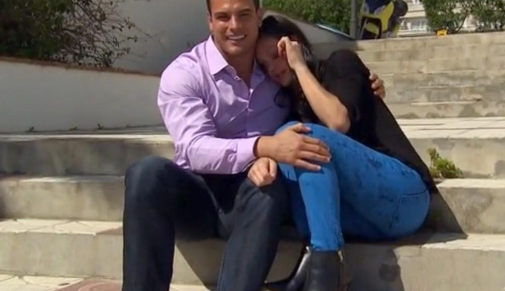 James and Desiree talk and cry on the Bachelorette.