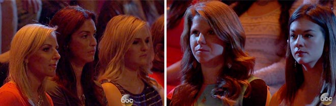 The audience looks concerned for Desiree's future on the Bachelorette.