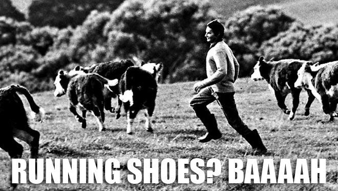 Australian long distance runner Cliff Young wore boots to run marathons.